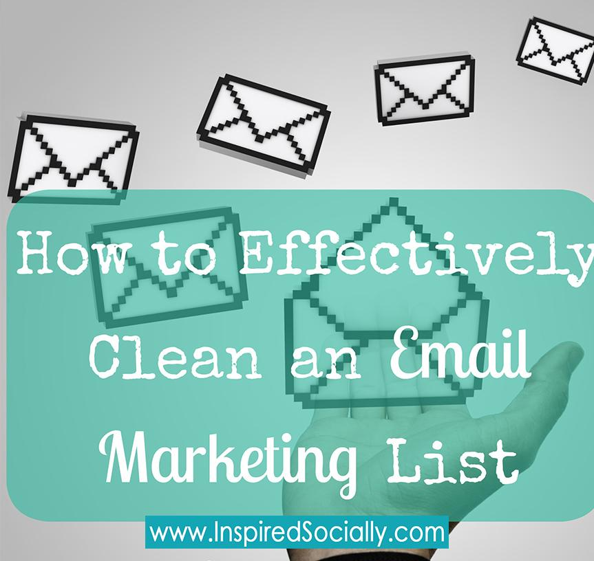 Cleaning an Email Marketing List